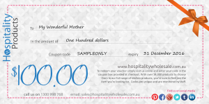 Kitchenware Gift Vouchers